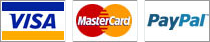 We accept Visa, Mastercard, and Paypal